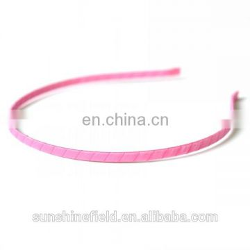 Metal Hard Headbands Ribbon Covered Headbands 5MM Wide For Toddlers Children