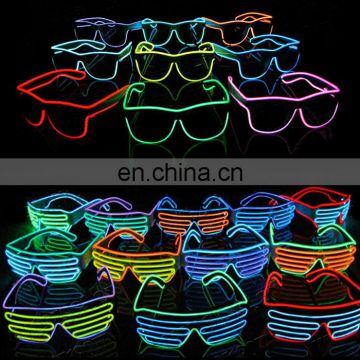 el glasses glowing light up good quality shutter party el wire Glasses