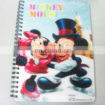 Manufacturer China custom 3d spiral office notebooks