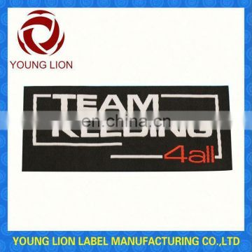 silk printed woven clothing label