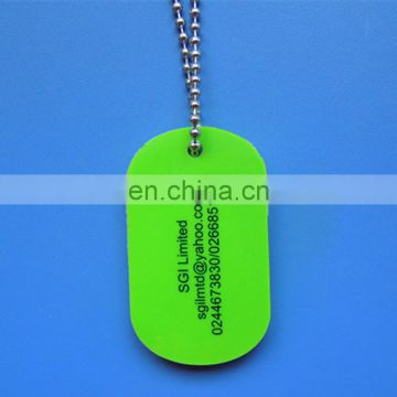 green color custom logo business college soft pvc pendant