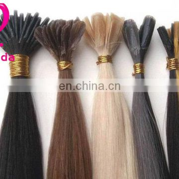 High quality keratin fusion bond hair extensions blonde color wholesale hair