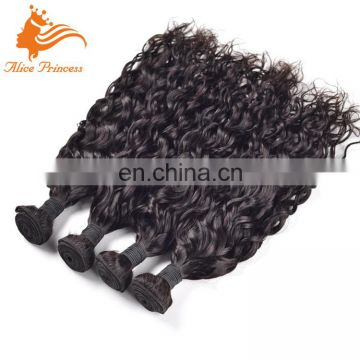 7A Ideal Human Hair Extensions for Black Women Unprocessed Water Wave Curly Brazilian Hair Weft Bundle Her Imports Hair