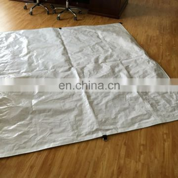 White/Brown Medium Duty canopies tarps/canvas