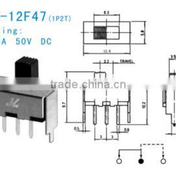 SS-12F47 slide switch