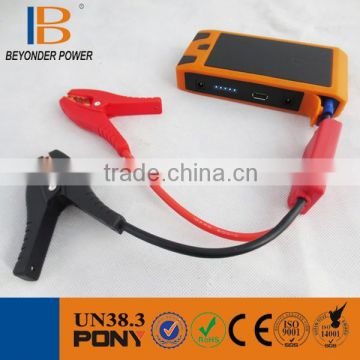 OEM high quality 12v lithium ion battery multi-function mini emergency start power for car & ultra-bright LED flash light