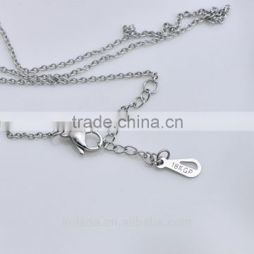 Stainless steel jewelry fashion O link chain necklace 92124