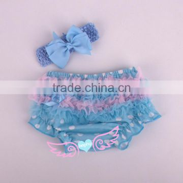 Baby Bloomer Cotton Shorts Baby Girls Bloomers Ruffled Panties Baby Girls Short And Headband Set Diapers