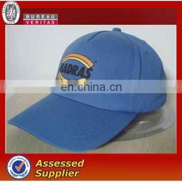 Brushed 100% cotton sports cap baseball cap with customized logo & colors