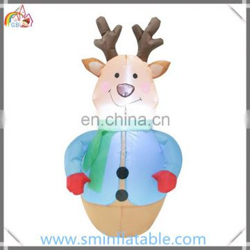 Christmas inflatable reindeer with christmas garland decor, led inflatable christmas decor from china manufacturer