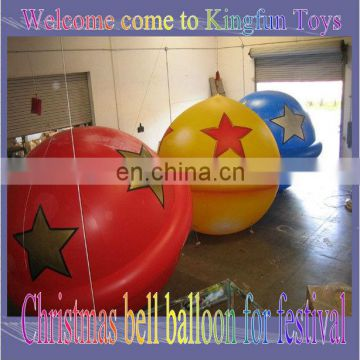 Christmas bell inflatable ball for festival