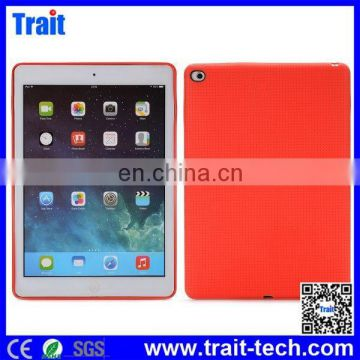 Fashion Show Simple Style Solid Color Mesh Pattern Flexible Gel TPU Back Cover Case for iPad Air 2,For ipad Case