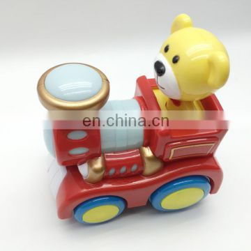 Battery operated blocks railway train toy with light and music