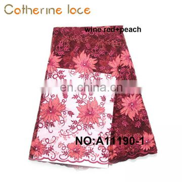 Catherine Different Color High Quality Net French Lace Fabric In Dubai