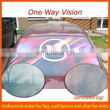 one way vision perforated vinyl sticker