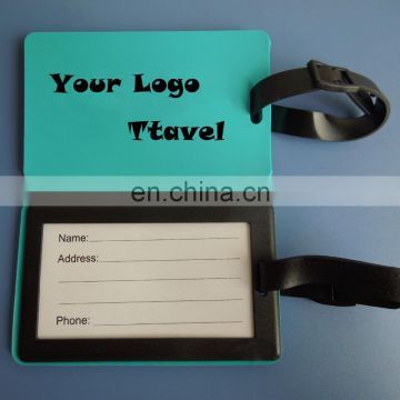 High quality custom printed logo soft pvc luggage tags