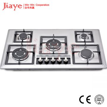 kitchen applaince SS 5 burners built-in gas hob for cooking use