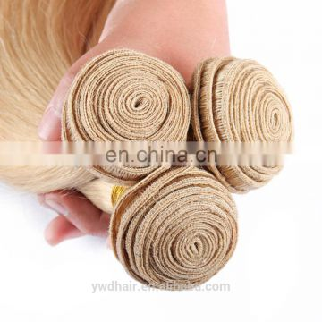 8A Silky Honey Blonde Brazilian Straight Hair 613 Remy Weave Bundles Human Hair