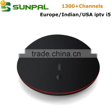 I5 Android ott tv box iptv box indian channels Turkish Dutch Netherlands  IPTV Live Channels free one year , Supplier's Choice