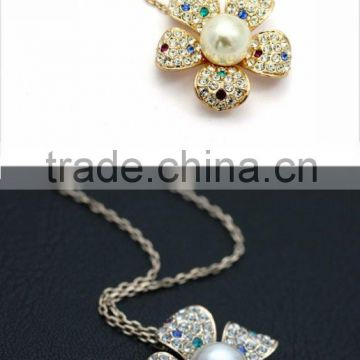 Wholesale unique Standards Hight Quality simple design 2016 crystal necklace jewelry wholesalestainless steel jewelry N0061