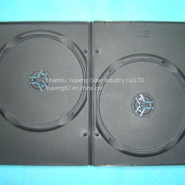 7mm  double  dvd case dvd box dvd cover black rectange pp material china factory