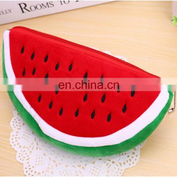 New design creative plush fruit shape pencil case bag wholesale pencil case factory direct