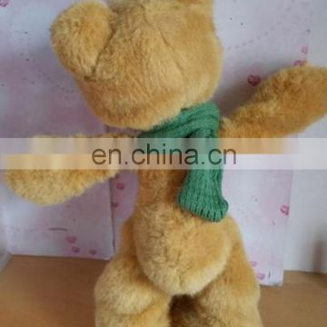 plush bear moveable joint bear toy brown