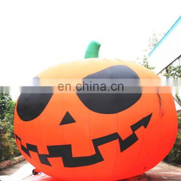 Halloween outdoor decorated with giant inflatable pumpkin, inflatable pumpkin balloon