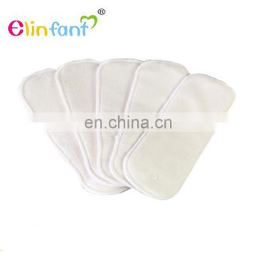 Elinfant Washable Newborn Liner Insert For Baby Cloth Diaper & Cover Nappy 2 layers bamboo fiber&2 layers microfiber insert