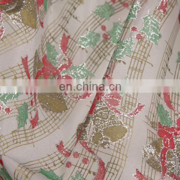 2015 Cheapest China Christmas Snowman Printed Spraying Organza Fabric For Curtain