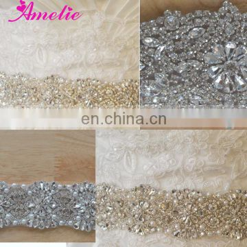 Crystal Beaded Embellished Bridal Sash
