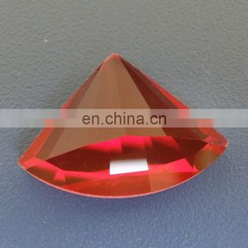 red fan-shape glass garment beads (can make holes)