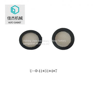 rubber filter mesh gasket on water cleaning machine