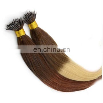 Hot 2015 Alibaba Express Wholesale Top Quality Grade 7A 8A Double Drawn curly Nano Ring virgin remy Human Hair Extensions