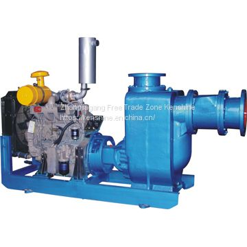 Centrifugal water pump driven by diesel engine