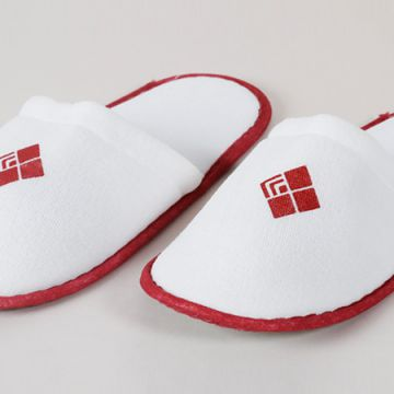 Eliya CE certified velour open toe hotel slipper