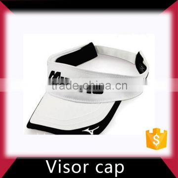 Custom Made Wholesale 100% Cotton Sun Visor Cap With Embroidery Logo