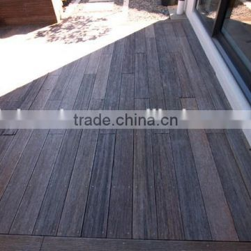 Composite Outdoor Strand Woven Bamboo Decking in Dark