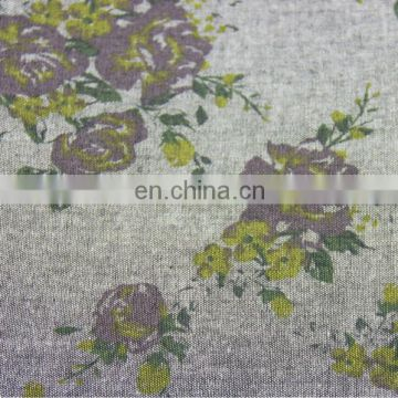 100 cotton denim fabric/floral pattern design printed