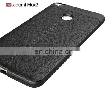Shockproof TPU carbon fiber phone case for mi with high quality, back cover for mi max 2
