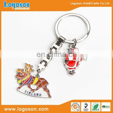 Alibaba wholesales promotional metal multi ring keychain