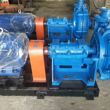 ZJ series wear-resistant solid-liquid two phase slurry pump treating abrasive or corrosive slurry containing solid parti