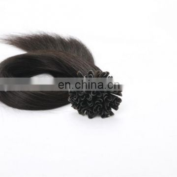 Alibaba 9 years gold supplier high quality u tipped hair extensions