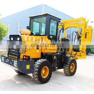 Hydraulic highway guardrail pile driver Pneumatic air hammer pole pile driver