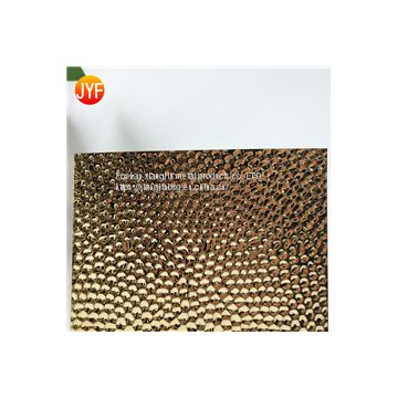 JYF005 Golden mirror polished embossed stainless steel sheet