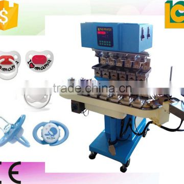 6 color pad printing machine with flame system for baby