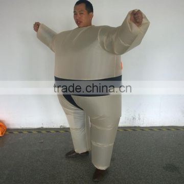 Adult Inflatable Sumo Wrestler Costume Halloween Blow Up Novelty Fat Man Suite