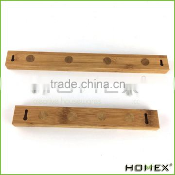 Bamboo magnetic wood knife holder Homex_BSCI