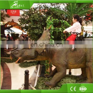 KAWAH OEM factory lifelike insert coin remote control battery operated ride animals for kids