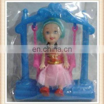"3"" plastic toy swing doll"
